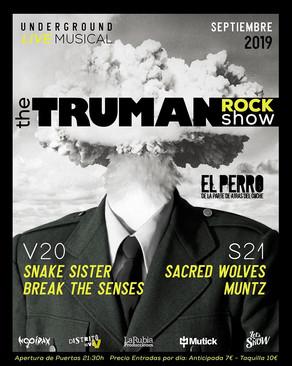 THE TRUMAN ROCK SHOW EN MADRID, CONOCE EL CARTEL Y COLABORACIONES, ENTRE ELLAS DISTRITO UVE