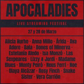 APOCALADIES FEST EN INSTAGRAM, 27 Y 28 DE MARZO: 19 ACTUACIONES DE ROCK, METAL Y PUNK