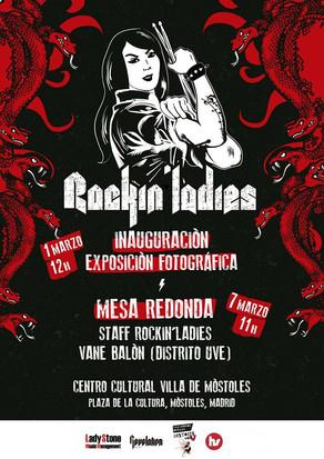PARTICIPO EN MESA REDONDA ROCKIN' LADIES EN MÓSTOLES, EL 7 DE MARZO 2020