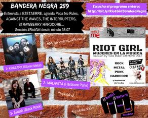 RIOT GIRL #8: ESCUCHA EN BANDERA NEGRA (RADIO 3 EXTRA)
