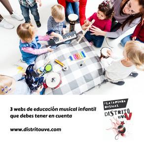 3 WEBS DE EDUCACIÓN MUSICAL INFANTIL QUE DEBES TENER EN CUENTA