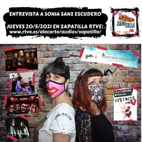 SONIA SANZ ESCUDERO EN MI SECCIÓN DE ZAPATILLA (RTVE - RADIO 3 EXTRA)