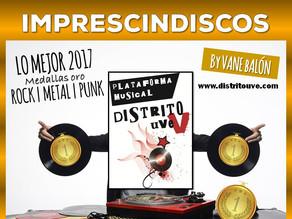 IMPRESCINDISCOS ESPECIAL LO MEJOR 2017, MEDALLAS ORO