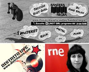 RIOT GIRL #5 EN BANDERA NEGRA (RADIO 3): ESPECIAL MUJERES BATERISTAS