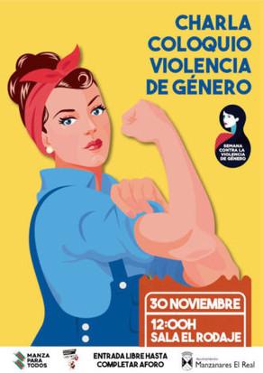 PARTICIPO EN JORNADAS CONTRA LA VIOLENCIA DE GÉNERO EN MANZANARES EL REAL (MADRID)