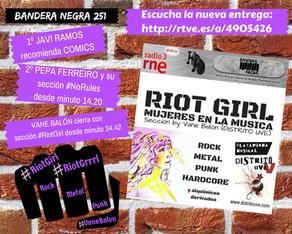 RIOT GIRL #7: ESCUCHA EN BANDERA NEGRA (RADIO 3 EXTRA)