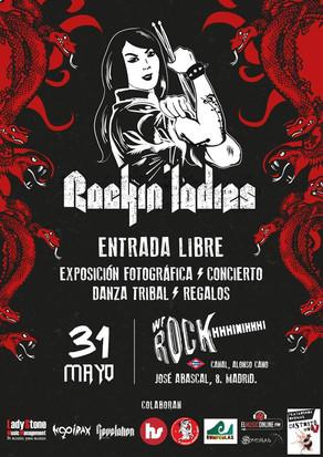 PROYECTO ROCKIN' LADIES EN MADRID, EXPOSICIÓN OFICIAL Y CONCIERTO JAM CON 30 MUJERES