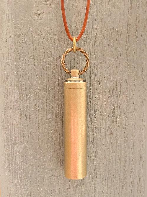 Brass Vial Pendant
