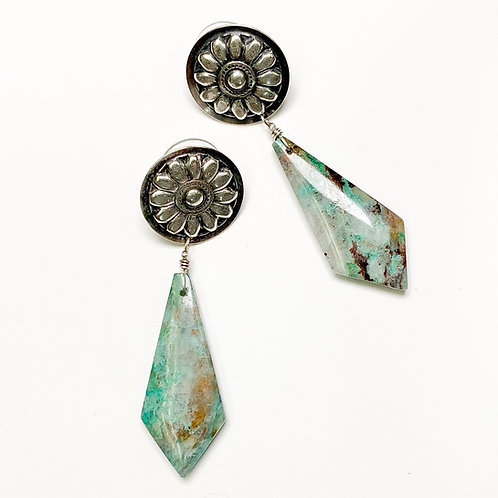 Concho & Crysacolla Earrings 1