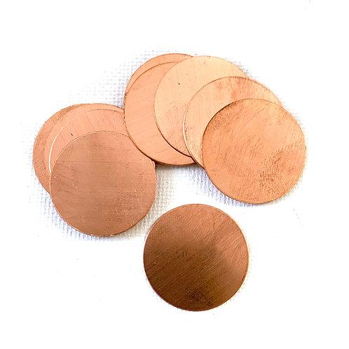 "1"" Circle Blank Copper 24G"