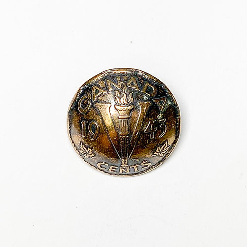 Coin Button: Canada 1943