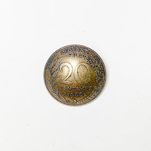 Coin Button: France 1977