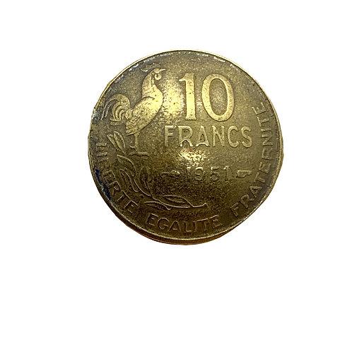 Coin Button: France 1951