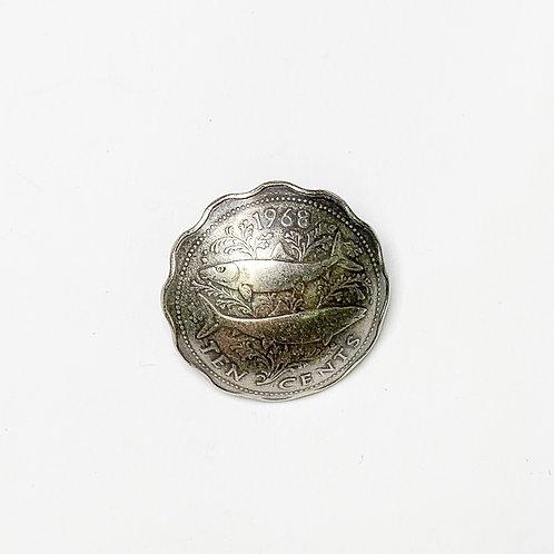 Coin Button: Bahamas Various Dates