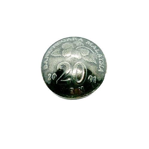 Coin Button: Malaysia 2001