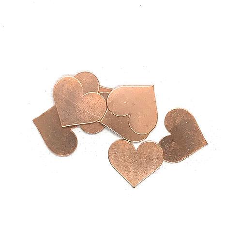 Heart Blank Copper 24G