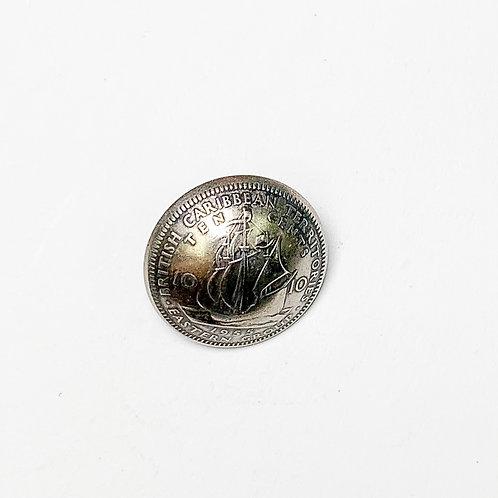 Coin Button: British Caribbean Territories 1965