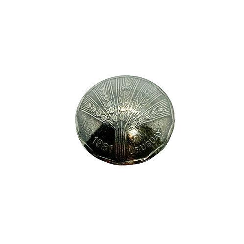 Coin Button: Uruguay 1981