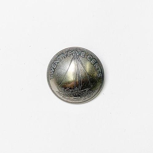 Coin Button: Bahamas 1991
