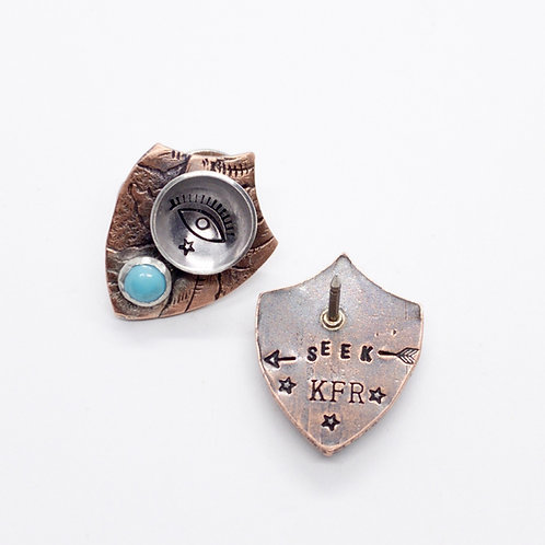 Seek Shield Lapel Pin