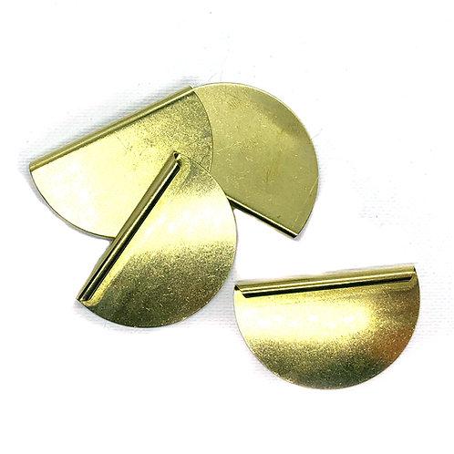 Semi Circle Pendant Brass 20G