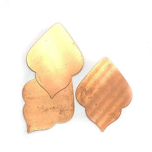 Deco Leaf Blank Copper 24G