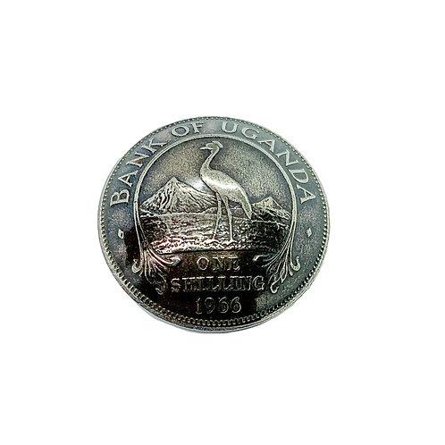 Coin Button: Uganda 1966