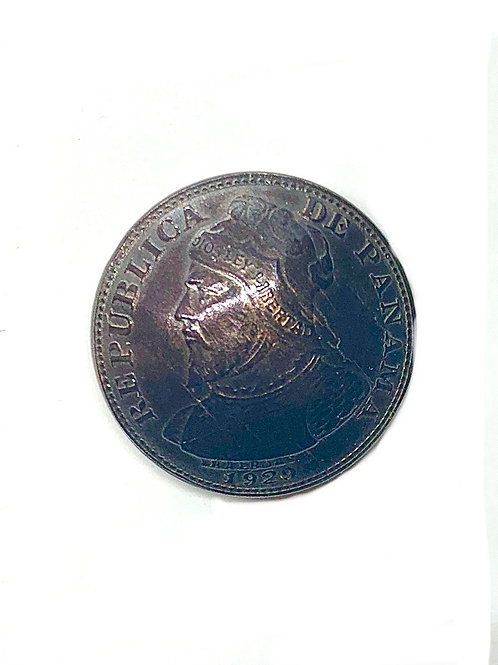 Coin Button: Panama 1929