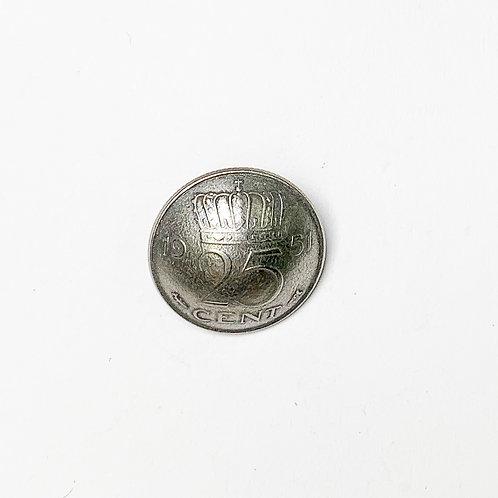 Coin Button: Netherlands 1951