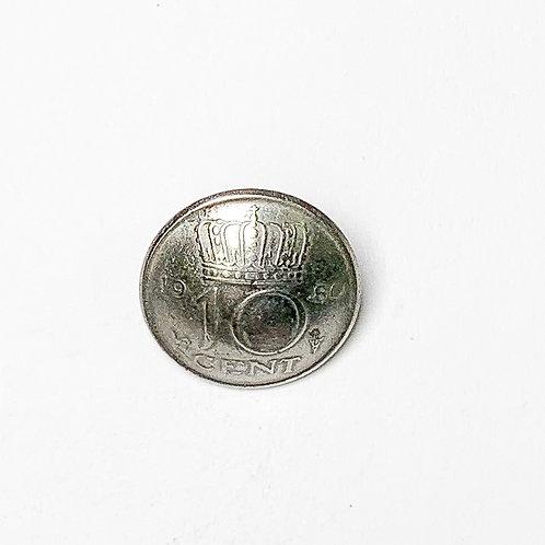 Coin Button: Netherlands 1980