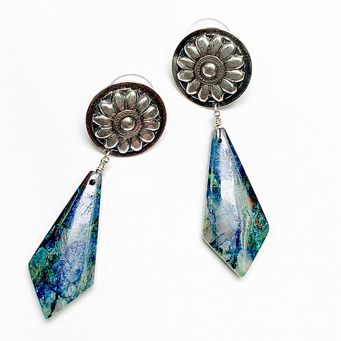 Concho & Crysacolla Earrings 2