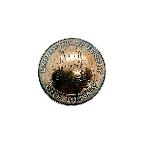 Coin Button: Isle of Jersey 2008