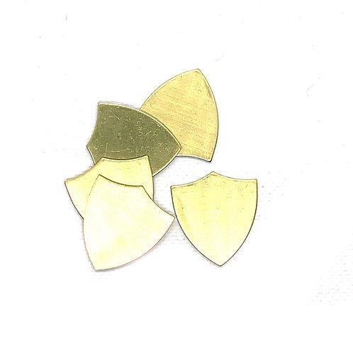 Brass Shield Blank 20G