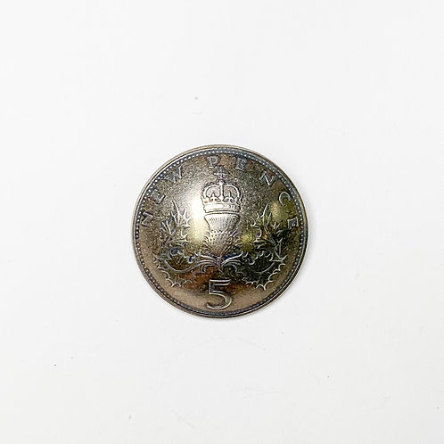Coin Button: England 1968