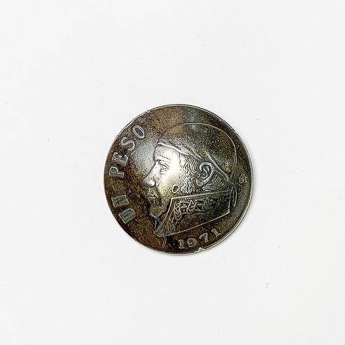Coin Button: Mexico 1971