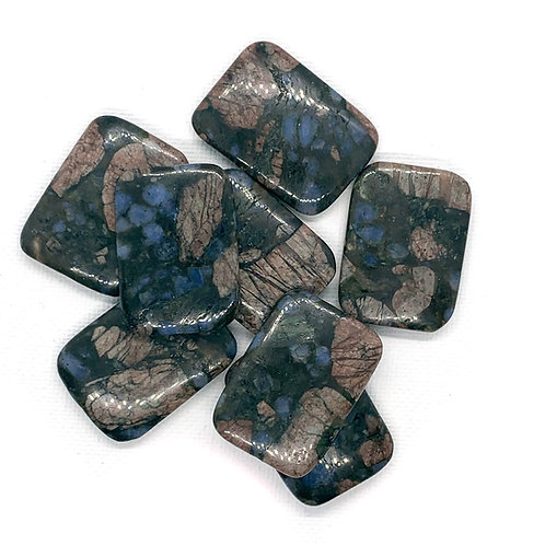 Pink and Blue Jasper Rectangles
