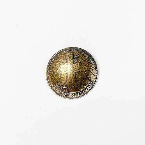 Coin Button: Barbados 1973