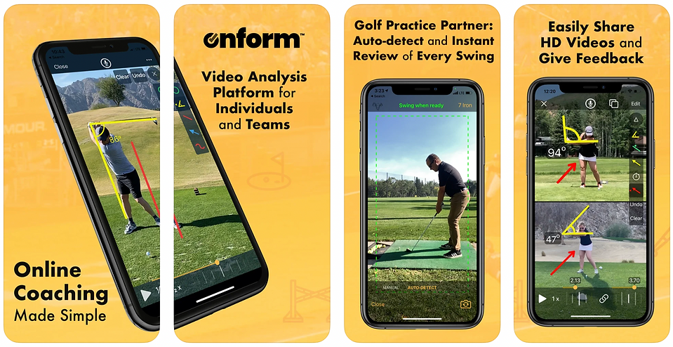 OnForm Coaching and Golf Swing video ana