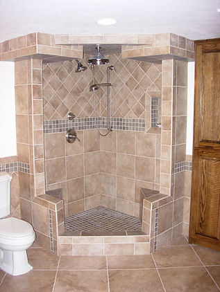Custom built walk in shower Cleveland Ohio