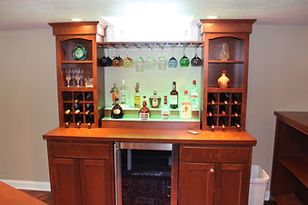 Simple back bar for home