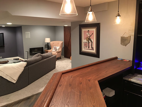 Avon Ohio custom basement finish