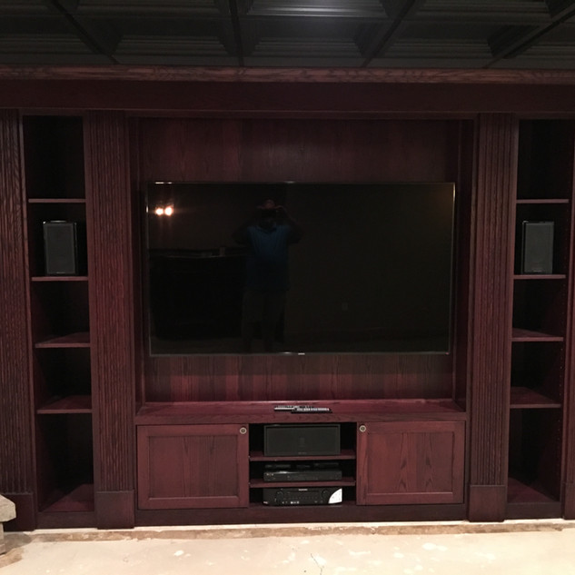 Custom built entertawinment center