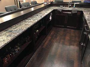 Front bar lower granite countertop