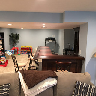 Basement drywall ceilings and soffits