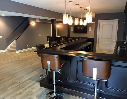 Custom built home bar