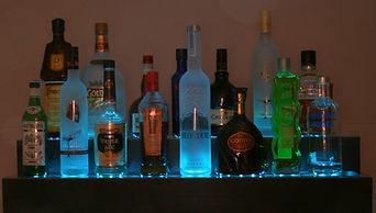 Liquor bottle display shelves