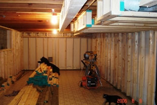 Basement wall framing wood 2x4
