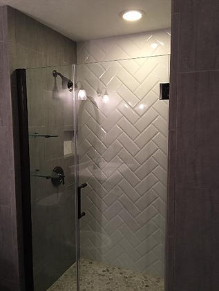 Custom tile shower Medina Ohio