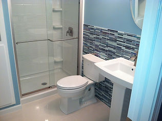 Custom built and designed bathrooms