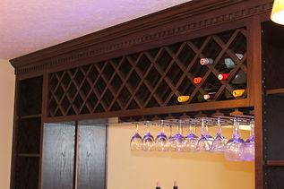 Wine bottle display home bar